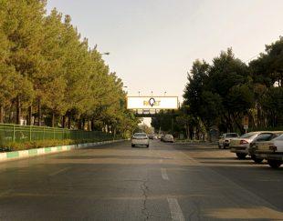 پل عابر پیاده خیابان هزار جریب – درب شرقی دانشگاه