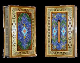 کلینکس و جا کارد و چنگال کلبه ای رو نقاشی-تذهیب