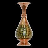 گلدان صراحی طلایی طرح مشکی